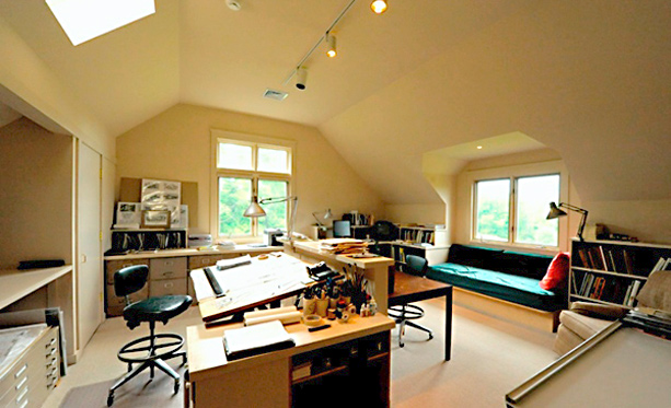 The office of residential architect John Milnes Baker