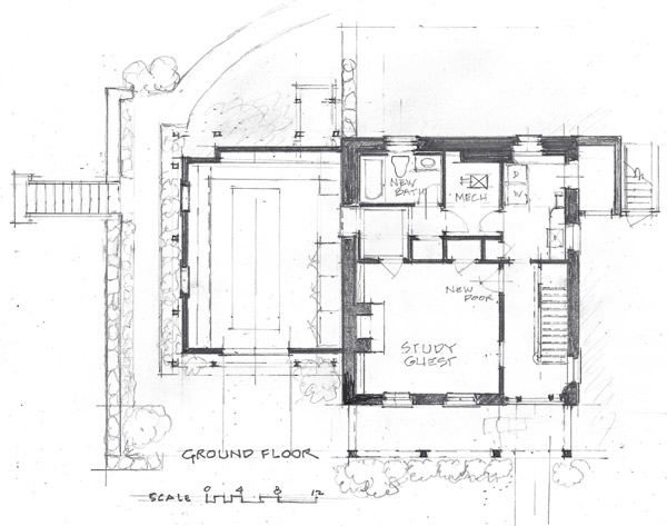 John Milnes Baker architect plans